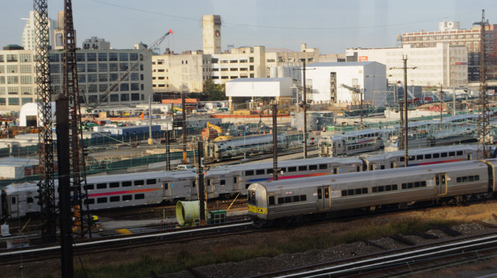 NJ Transit train at Sunnyside Yard.