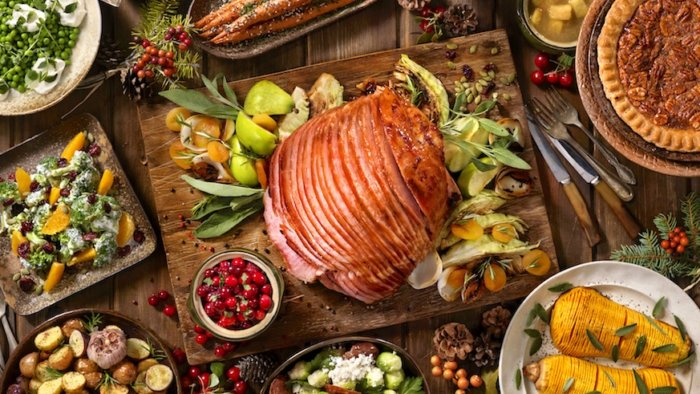 A ham is a traditional centerpiece of American Christmas Eve dinners, but what about the rest of the world? Credit: iStock