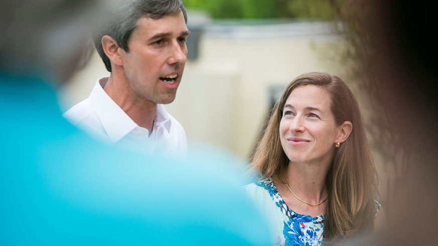 Beto O'Rourke and Amy Hoover Sanders