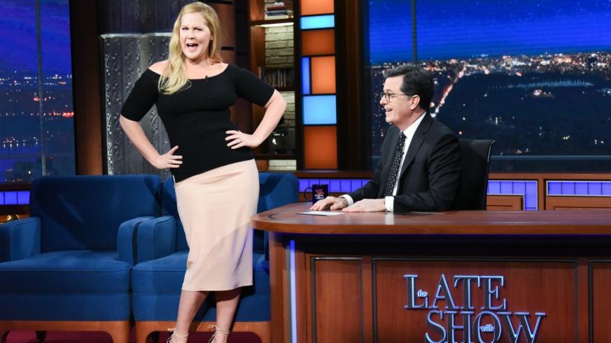 Amy Schumer Stephen Colbert honeymoon