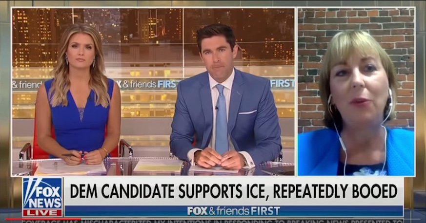 Fox & Friends First accidentally interviewed the wrong woman on Monday. Photo: Screenshot