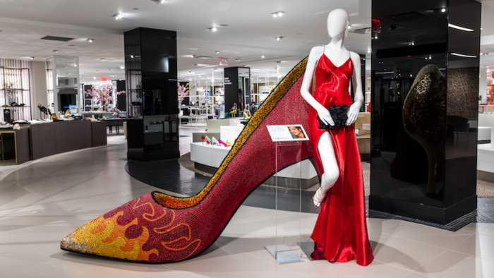 Bloomingdale's new shoe department includes a whole wardrobe of giant stilettos. Credit: Provided