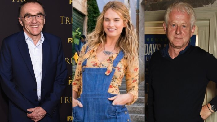 Danny Boyle, Lily James and Richard Curtis