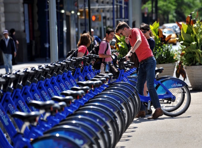 New York's beloved bikeshare Citi Bike is celebrating its fifth birthday this weekend in Prospect Park. (Stan Honda/Getty)