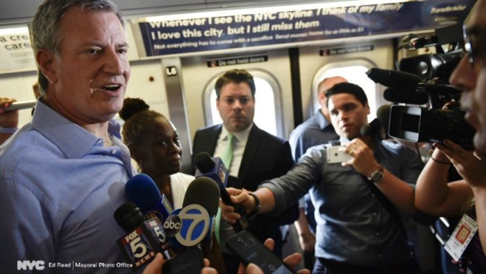 Mayor Bill de Blasio released a list of what New Yorkers deserve from the MTA and Gov. Andrew Cuomo.