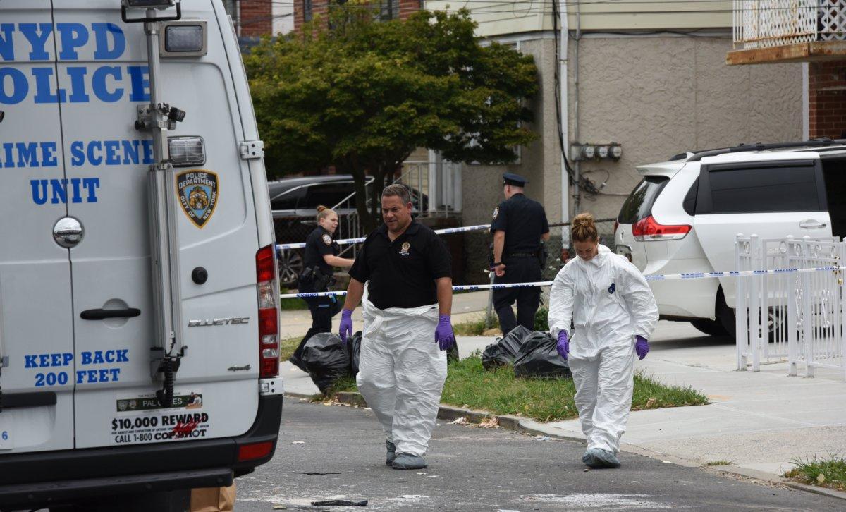 File: NYPD crime scene