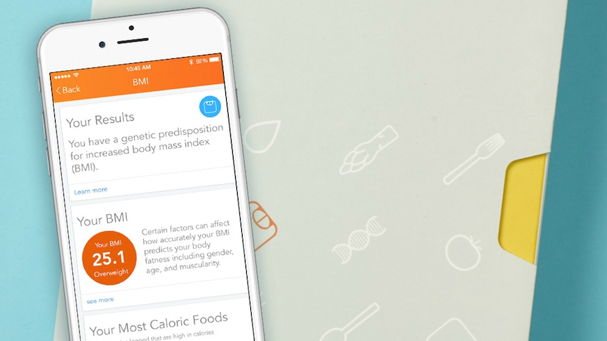 Nutrition-tracking app Lose It! has partnered with Helix to gain insights into your weight loss needs from your DNA. Photo: Provided by Lose It!