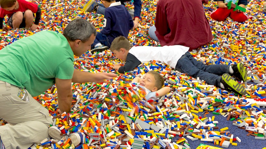 You could be this happy too at Lego Live NYC. Credit: David Frith