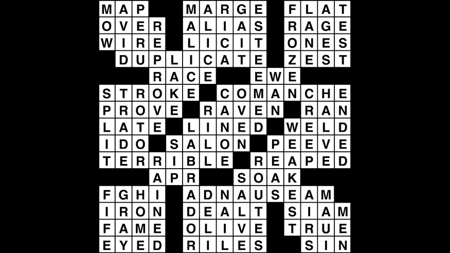 Crossword Puzzle  Wander Words Answers  May 2  2019