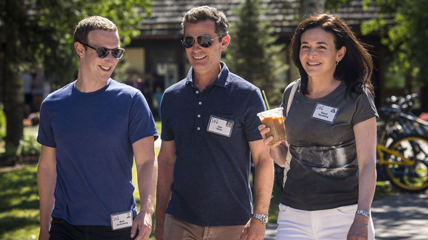 Mark Zuckerberg Sheryl Sandberg Facebook