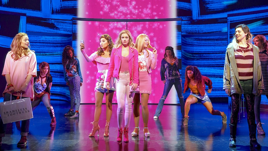 The five mean girls of Mean Girls on Broadway: Cady Heron, Gretchen Wieners, Regina George, Karen Smith and Janis Sarkisian. Credit: All photos by Joan Marcus