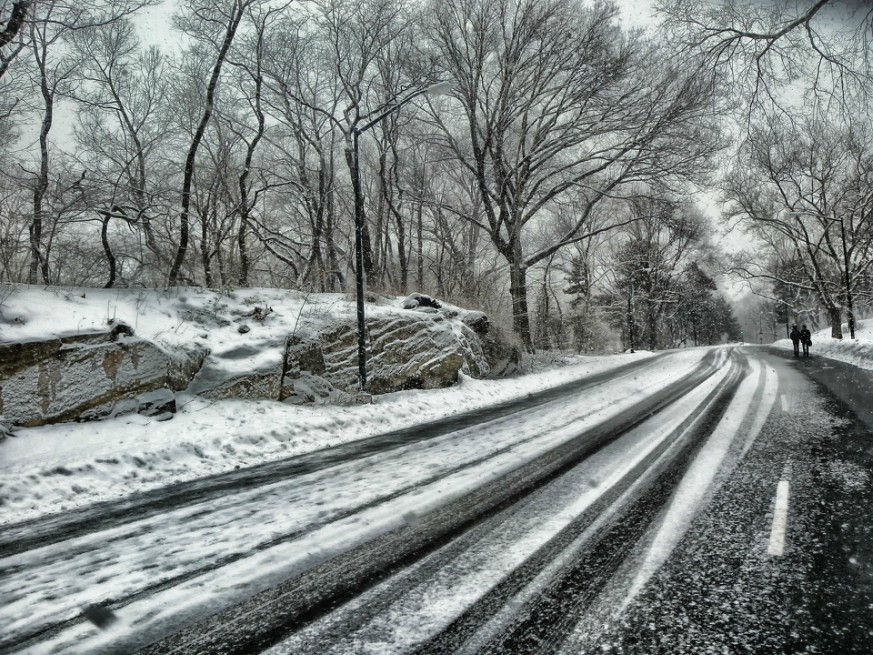 New Yorkers are being asked to stay home if possible as conditions are expected to worsen throughout the day from the spring nor'easter.