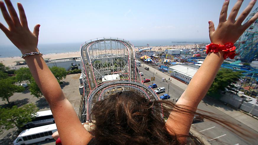 Happy 90th, Coney Island Cyclone. Photo: Getty