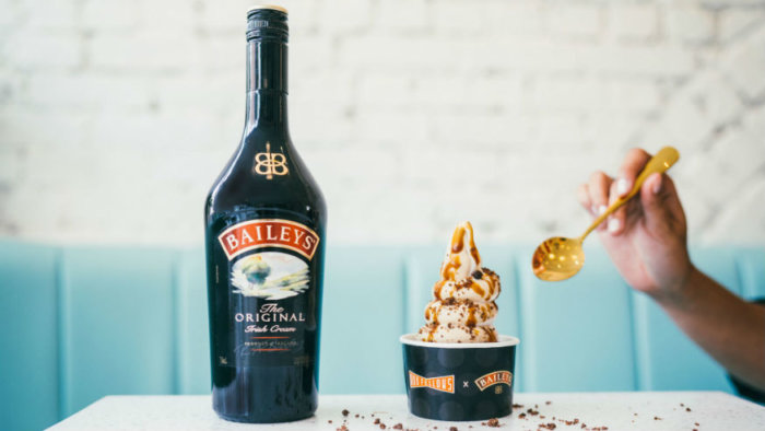 OddFellows and Baileys soft serve in honor of Treat Yo Self Day