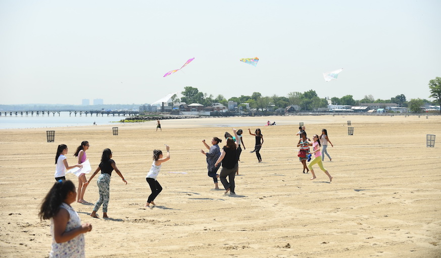 """Orchard Beach is known as the """"Riviera of New York City."""" Photo: Malcolm Pinckney, NYC Parks"""