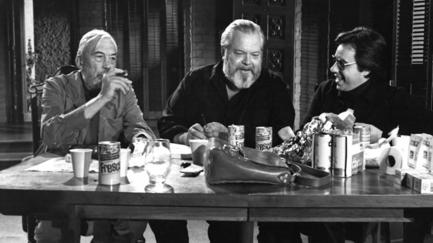 John Huston, Orson Welles and Peter Bogdanovich talking The Other Side Of The Wind
