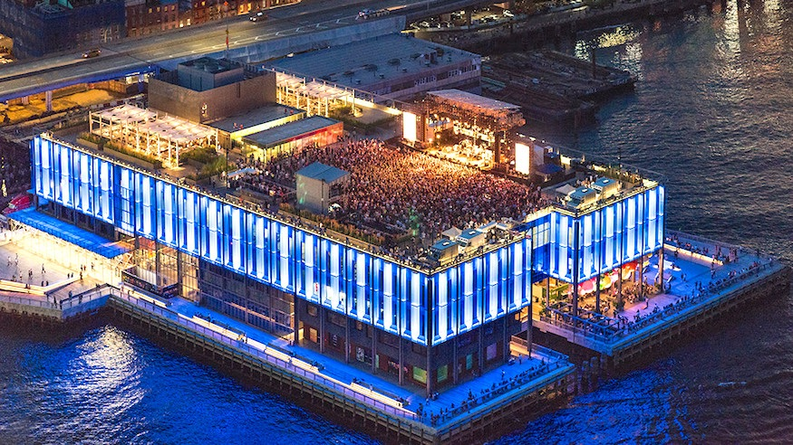 rooftop at pier 17 lower manhattan concert venue east river seaport district things to do in nyc
