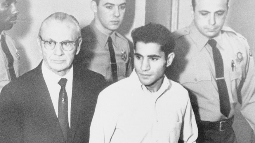 Sirhan Sirhan at his trial in 1969