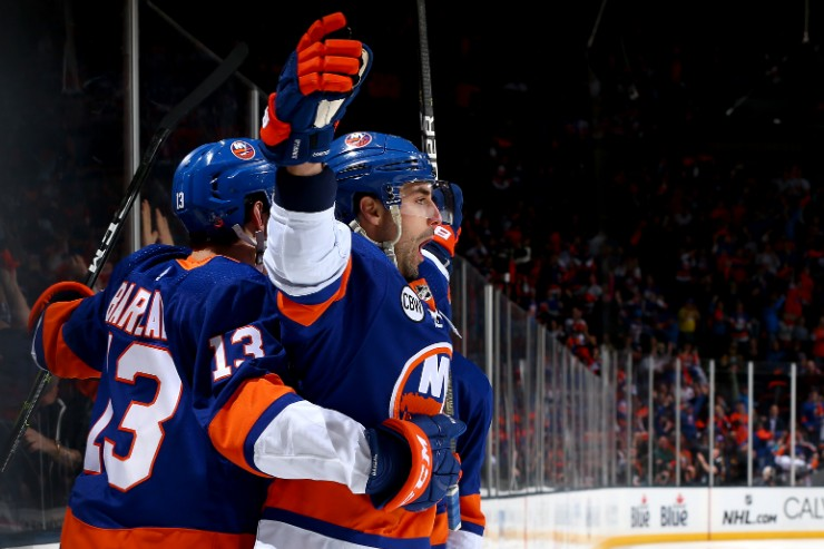 Mathew Barzal and Jordan Eberle have combined for seven points as the Islanders took a 2-0 series lead over the Penguins. (Photo: Getty Images)