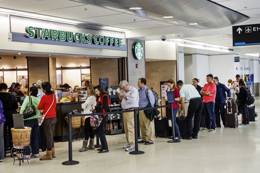 Did Starbucks CEO Kevin Johnson say 'patrons of color' could skip the line?