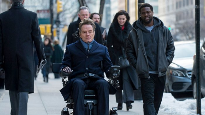 Kevin Hart and Bryan Cranston in The Upside