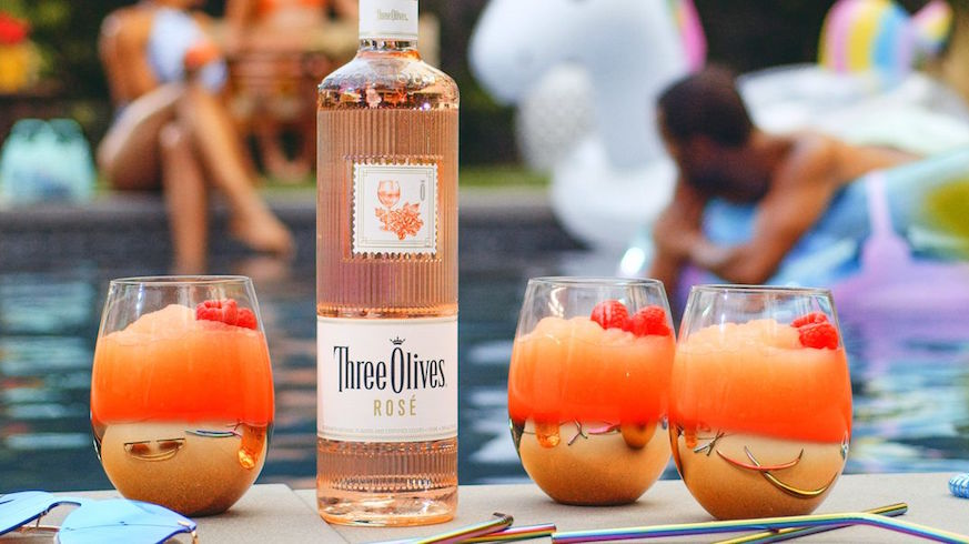 Three Olives is turning cocktails pink with Rose Vodka.