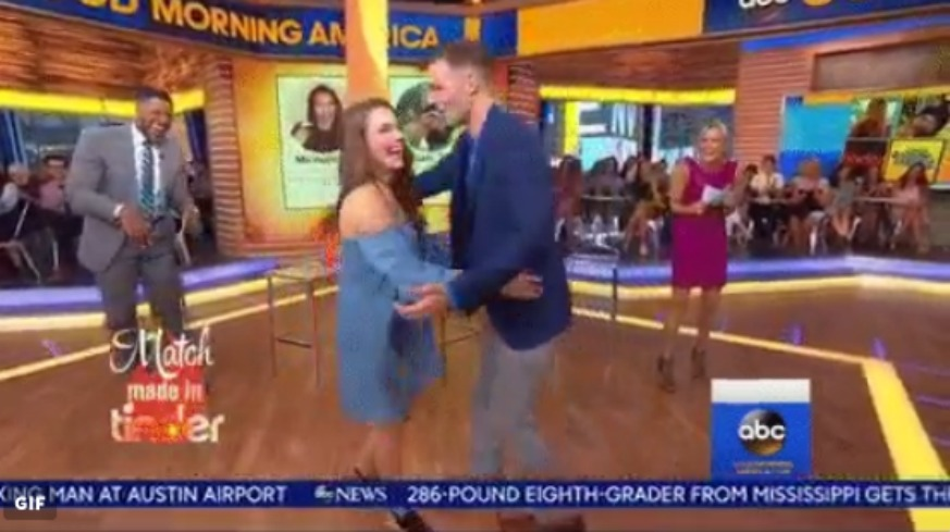 Tinder Couple Meets GMA