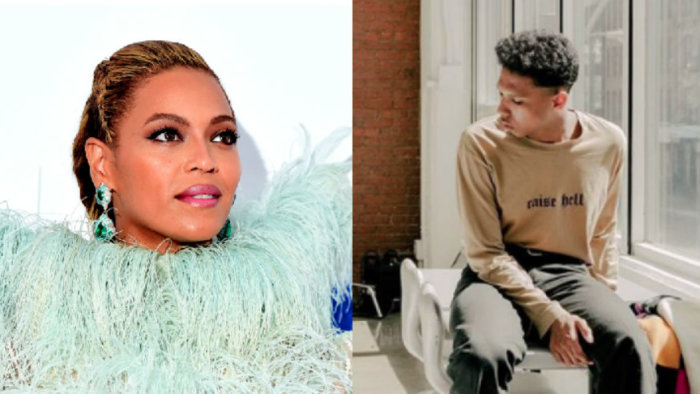 Tyler Mitchell while shoot Beyonce's Vogue cover