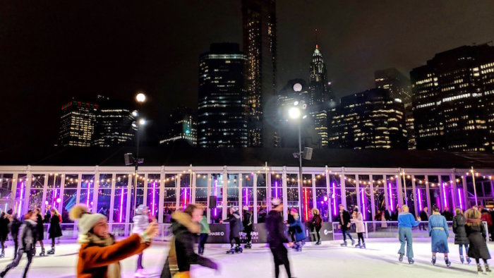 rooftop ice rink pier 17 things to do in nyc winter