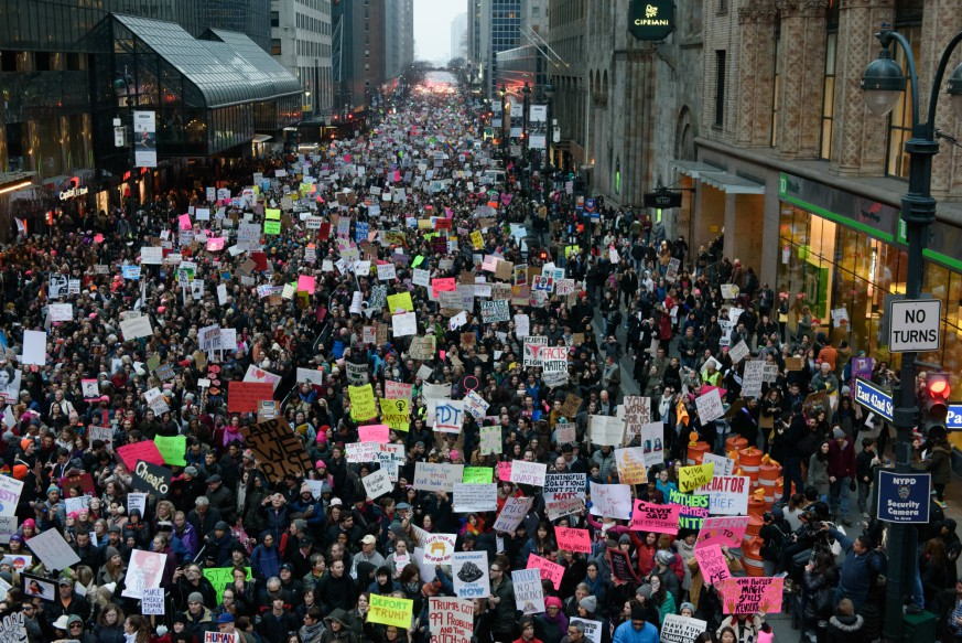 While the tumultuous year that was 2017 is winding down, the resistance is still flourishing, and a #MeToo rally is planned for next week. The 2nd annual Women's March on NYC is also set to take place on Jan. 20. Credit: Lenyon Whitaker