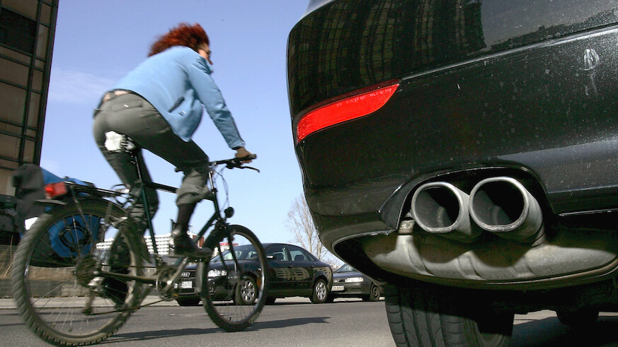 Human protected bike lanes are the new trend in protesting for cyclist safety. (Getty Images)